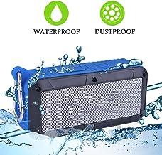 Solar/Battery Powered 2x3W Bluetooth Speaker Splashproof Portable Wireless MP3 Player with Built-in Micphone, FM Radio/MicroSD Card (Blue)