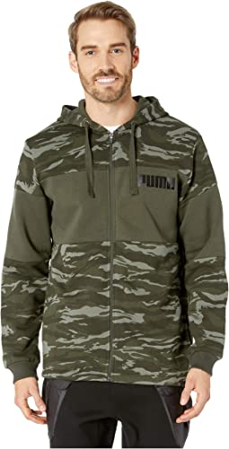 Camo Foil Full Zip Fleece Hoodie