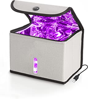 Drive Auto UV Light Sanitizer Box - Mobile Ultraviolet Disinfection Bag Kills 99.9% of Germs & Bacteria on Mask, Phone, Ke...