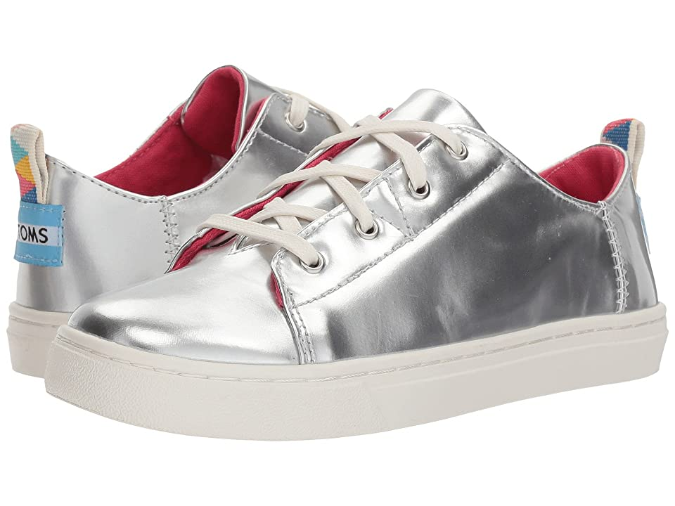 TOMS Kids Lenny (Little Kid/Big Kid) (Silver Specchio) Girl