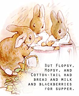 "ArtDash Studio Presents a Glimpse at Beatrix Potter's PETER RABBIT ~ 'Bread and Milk and Blackberries for Supper' 8""×10"" p..."