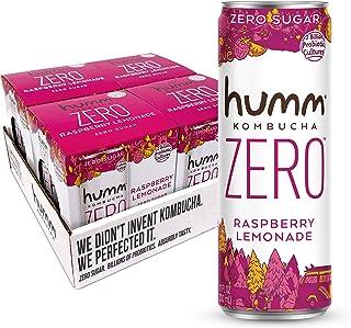 Humm Kombucha Zero Sugar Raspberry Lemonade - Live and Raw Organic Kombucha - No Refrigeration Needed - Vegan, Gluten-Free...