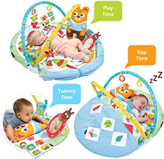 Yookidoo Baby Gymotion Play `N' Nap Activity Gym. 3-in-1 Infant Activity Play Mat for Newborns. 0 - 12 Month