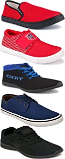 WORLD WEAR FOOTWEAR Sports Running Shoes/Casual/Sneakers/Loafers Shoes for Men Multicolor (Combo-(5)-1219-1221-1140-664-698)