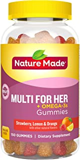 Nature Made Women's Multivitamin + Omega-3 Gummies, 150 Count Value Size (Packaging May Vary)