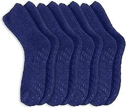 Pembrook Non Skid/Slip Socks – Fuzzy Slipper Hospital Socks (4 - Packs) – Great for adults, men, women.