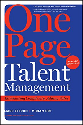 One Page Talent Management, with a New Introduction: Eliminating Complexity, Adding Value (English Edition)