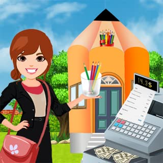 School Book Store Cashier Girl