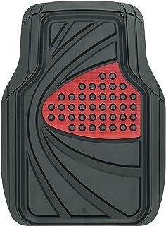 ボンフォーム カーマット デザインラバーマット 軽/普通車 フロント 1枚 防水 丸洗いOK ストッパー対応 48x65cm レッド 6449-01RE