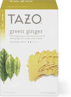 Tazo Green Ginger Green Tea Filterbags, 20 count, (Pack of 6)
