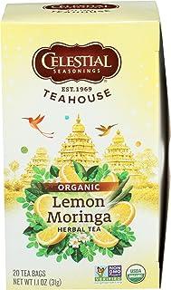 CELESTIAL SEASONINGS Organic Lemon Moringa Herbal Tea, 20 CT