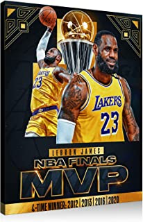 Lebron James Basketball Poster 2020 Championship Best Gift To Kobe, Bedroom Dormitory Room Decoration Canvas Mural Printin...