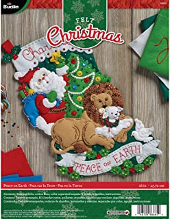 Bucilla 86665 Felt Applique Stocking Kit Peace on Earth, Size 18-Inch