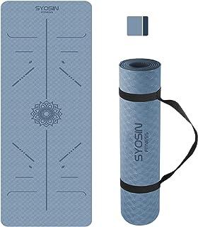 SYOSIN Yoga Mat Non Slip, Pilates Fitness Mats with...