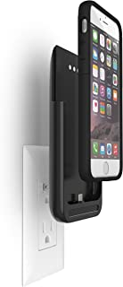 Prong iPhone6s Battery Case with Plugs, Prong Extended Battery Case for iPhone6/6s (Removable Backup Battery) with 2600mAh Capacity/100% Extra Battery Pack Juice Bank Cover [Apple MFi Certified]Black