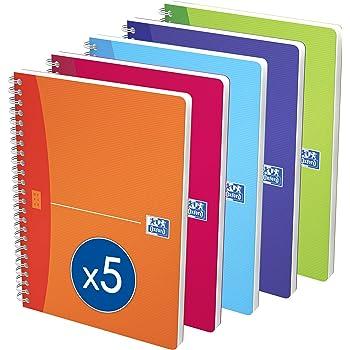 3 St/ück Umschlag aus Polypropylen 96 Seiten Oxford OpenFlex Notizb/ücher kariert verschiedene Farben 24 x 32 cm gro/ße Karos 90 g