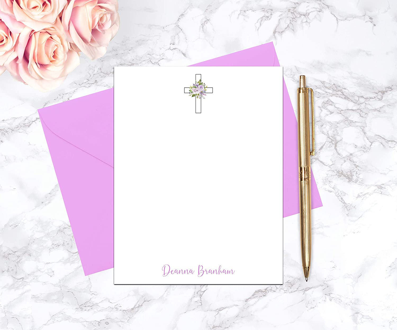 Personalized Religious OFFicial Gifts for Women Washington Mall Paper Stationa Cross and