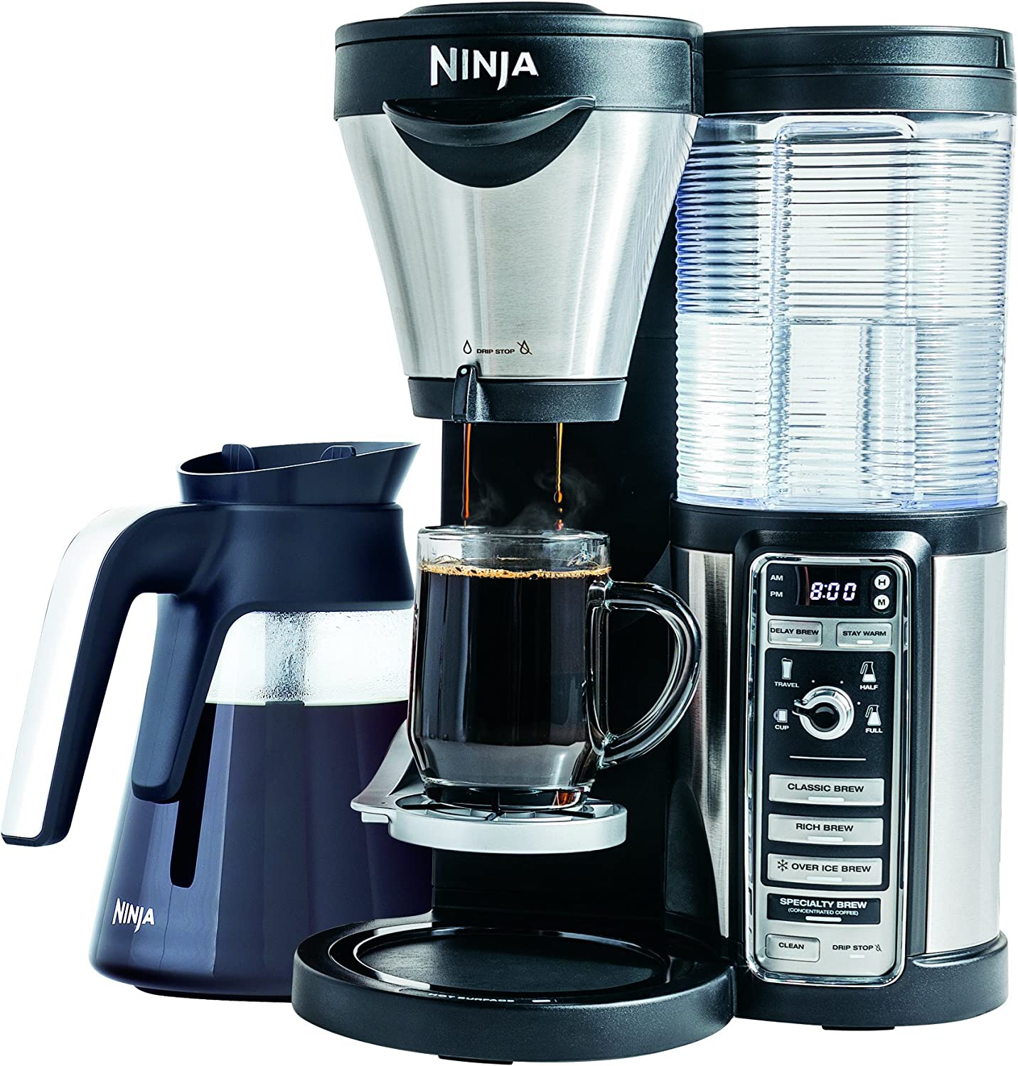 Ninja Coffee Bar Brewer, Glass Carafe (CF081) (Renewed)