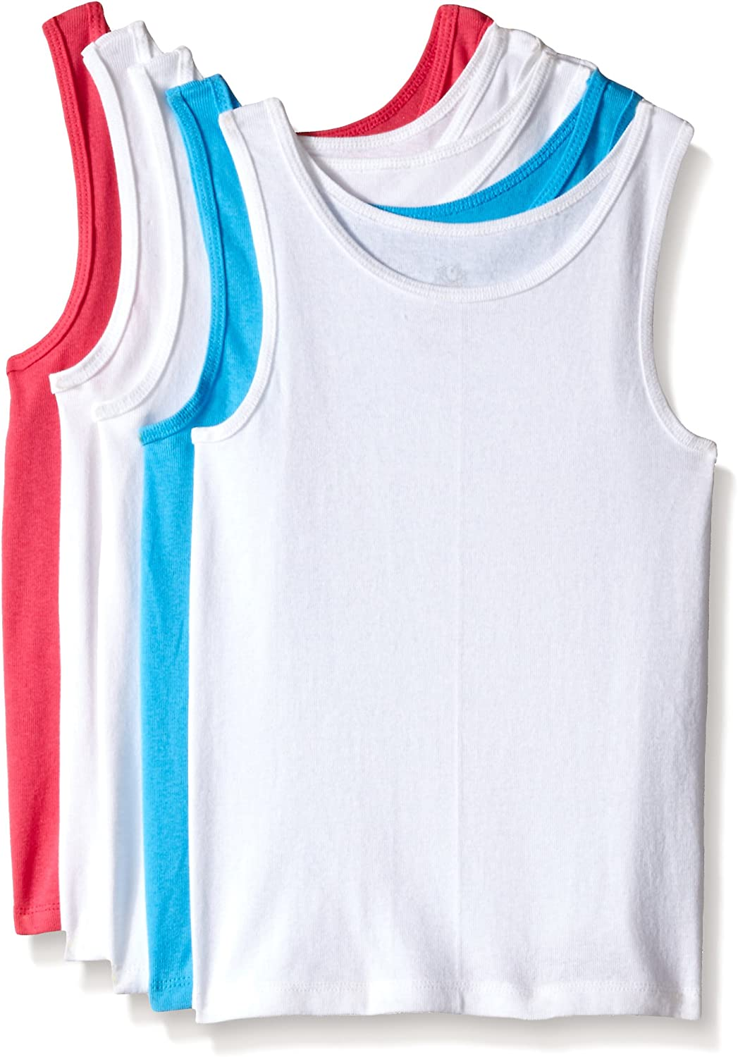 Pack of 5 Fruit of the Loom Big Girls Assorted Tank
