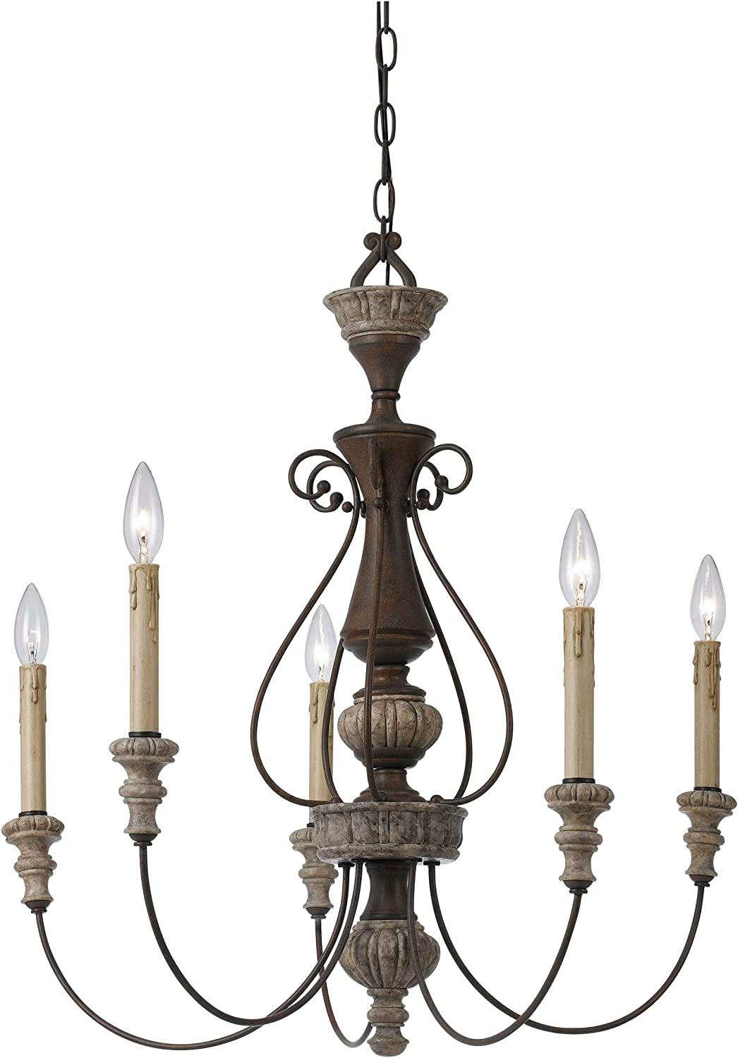 5 Light Metal Candle Chandelier with Ranking TOP8 Scrolled Details Topics on TV Gray B and