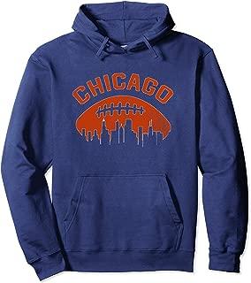 Vintage Chicago Illinois Cityscape Retro Football Pullover Hoodie