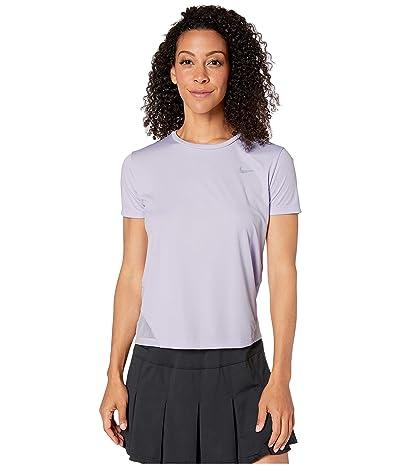 Nike Miler Top Short Sleeve (Lavender Mist/Reflective Silver) Women