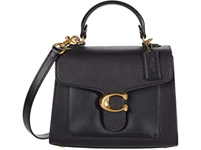 COACH Mixed Leather Tabby Top-Handle 20