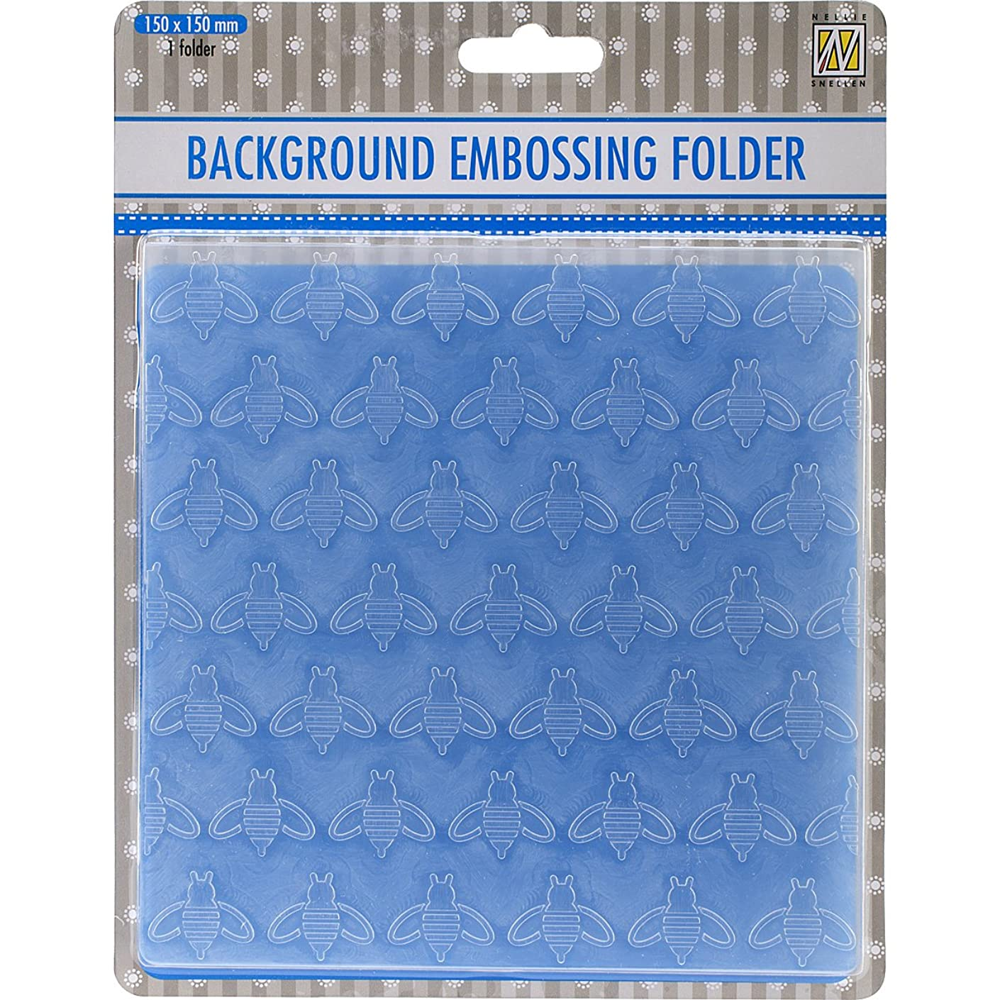 Ecstasy Crafts Nellie's Choice Background Embossing Folder-Honeybee, 6 by 6-Inch