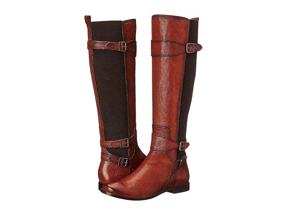 Frye Anna Gore Tall (Whiskey Buffalo Leather) Cowboy Boots