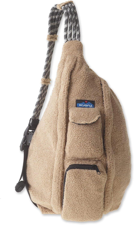KAVU Rope Fleece Bag Sling Crossbody Sherpa Backpack Travel Purse