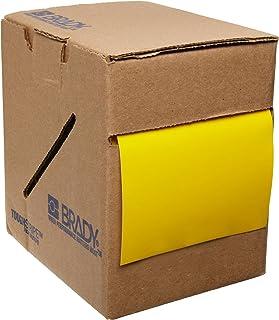 "Brady ToughStripe Nonabrasive Floor Marking Tape, 100' Length, 3"" Width, Yellow (Pack of 1 Roll)"