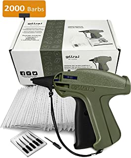"""GILLRAJ MILAN Clothes Tagging Gun with 2000 2"""" Standard Barbs and 6 Needles Clothing Labels Retail Price Tag Gun Kit for Boutique Store Warehouse Consignment Garage Yard Sale (2"""")"""