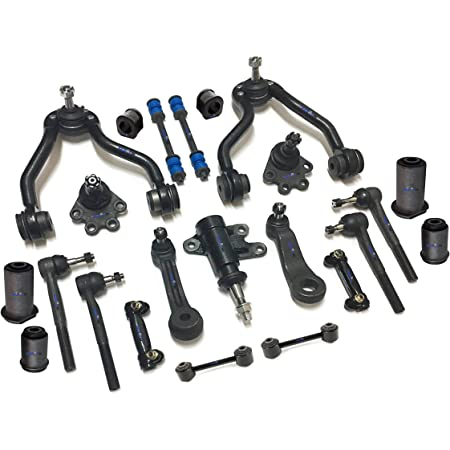 PartsW 18 Pc Front Steering /& Suspension Kit for Chevrolet GMC Center Link Adjusting Sleeves Tie Rod Ends Upper /& Lower Ball Joints Pitman /& Idler Arm Bracket Assembly Sway Bar Links