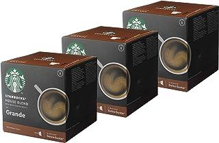Starbucks Nescafé Dolce Gusto House Blend Grande Lot de 3 boîtes de 12 Capsules de café