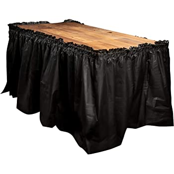"""Teal 2 Plastic Table Skirts 13/' X 29/"""" Streches-19/'"""