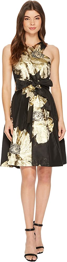 Tahari by ASL - Floral Wrap-Bodice Party Dress