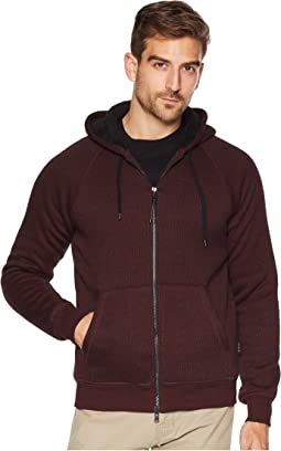 Sherpa Lined Knit Full Zip Hoodie