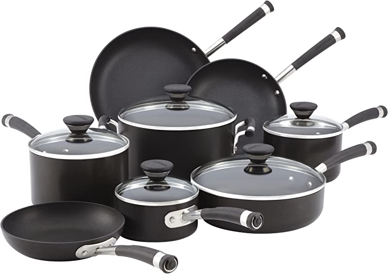 Circulon Acclaim Hard Anodized Nonstick Cookware Set 13 Pc Black