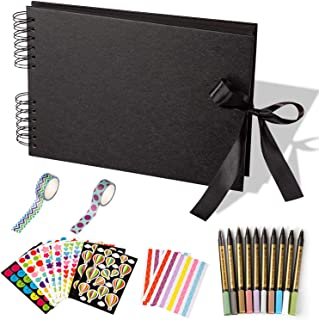 Yangbaga Album Photo Scrapbooking 80 Pages Fait à la Main DIY Album Craft Paper-Cadeau pour Un Souvenir d'amour, Amis, Fam...