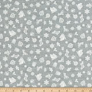 Andover Makower UK Scandi 2019 Scatter Silver Fabric Fabric by the Yard