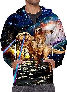 Men/Women 3D Hoodie Full Zip Print Graphic Sweatshirts Pullover Casual Pocket Jacket