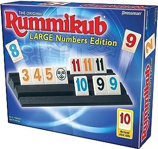 Rummikub Large Number Edition - The Original Rummy Tile Game (Large, Multicolor)