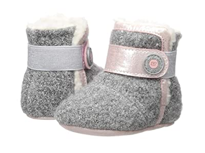 Stride Rite SR Cozy Carmen (Infant/Little Kid) (Grey/Pink) Girls Shoes