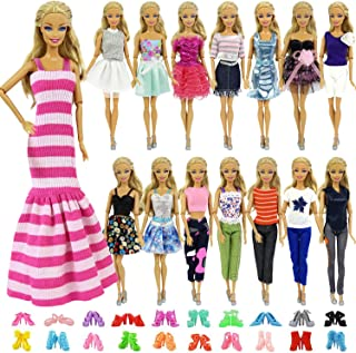 f3b52340d13 ZITA ELEMENT 5 Sets Casual Wear Clothes Mix Party Dress with 5 Pairs Shoes  for 11.5