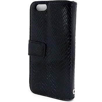 air-J iDesign StylishCase iPhone6専用 手帳型エキゾチックレザー調ケース ブラック AC-P47-SB BK
