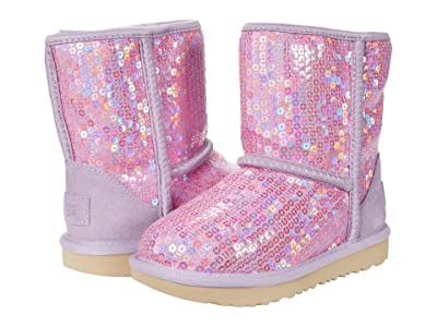 UGG Kids Classic II Stellar Sequin (Toddler/Little Kid) (Lilac Frost) Girls Shoes
