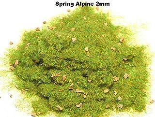 WWS 2 mm alpen på våren statiska gräsfibrer 30 g – modellbyggnad bordsskiva terränglandskap modellbana Diorama