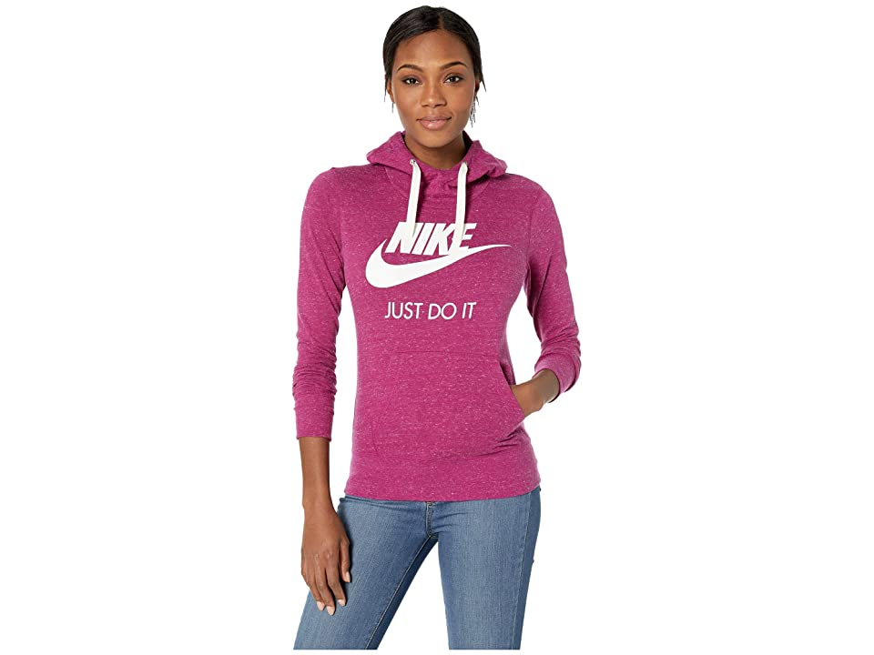 Nike Sportswear Gym Vintage HBR Hoodie (True Berry/Sail) Women