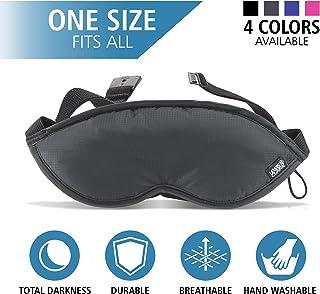 (1-pack, Black) - Lewis N. Clark Comfort Eye Mask With Adjustable Straps Blocks Out All Light