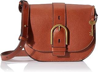 Fossil Wiley Leather 22.cms Cognac Gym Shoulder Bag (ZB7957200)